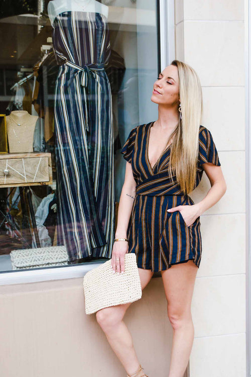 YULI NACY STRIPED ROMPER