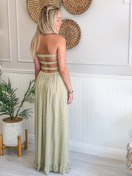 DYANI BRAIDED BACK MAXI