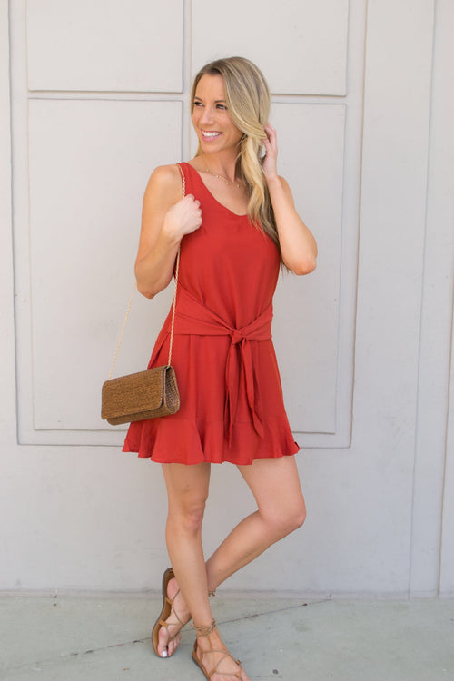 TESS FRONT WRAP MINI DRESS