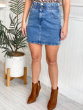 LENA PAPERBAG WAIST DENIM SKIRT
