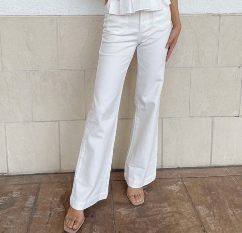 XAVI WHITE SOFT WASH PANTS