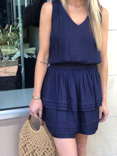 LEXINGTON DROP WAIST V-NECK DRESS