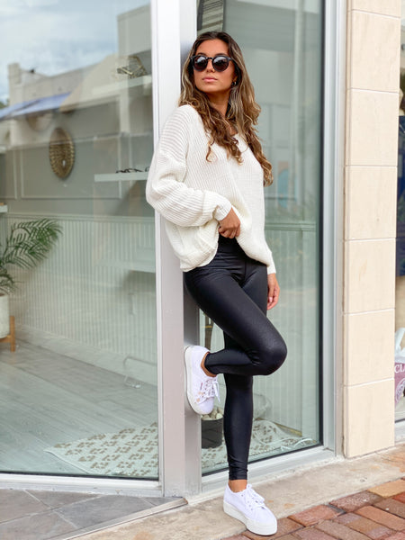 THE ONE FAUX LEATHER LEGGING