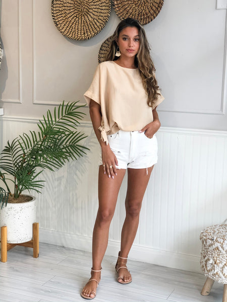 MILANO CREAM DOLMAN SLEEVE TOP