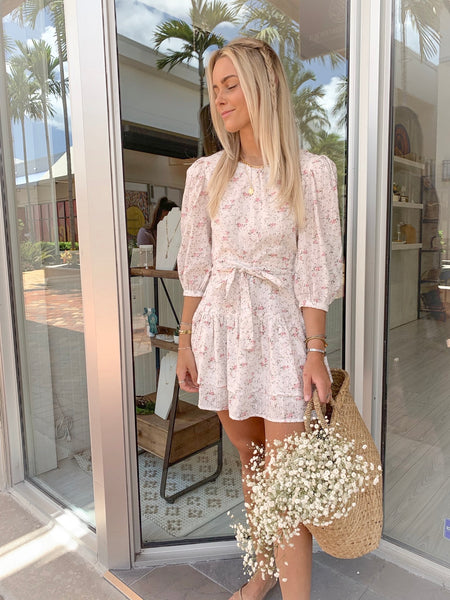 ARDELL FLORAL PUFF SLEEVE DRESS