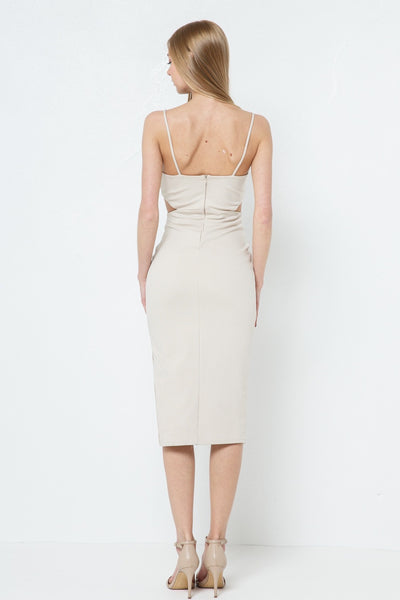 ABEL NUDE CUT OUT DRESS