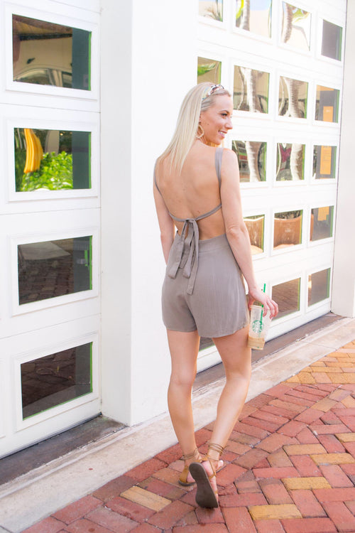 KARTER CRISS CROSS BACK ROMPER