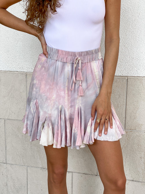 HAVEN LAVENDER RUFFLE SKIRT