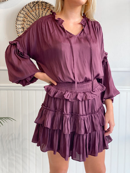 BIANCA RUFFLE MINI DRESS
