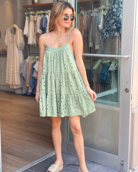 LUCKY SAGE LACE DRESS