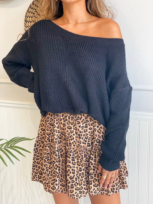 CARA TWISTED BACK SWEATER