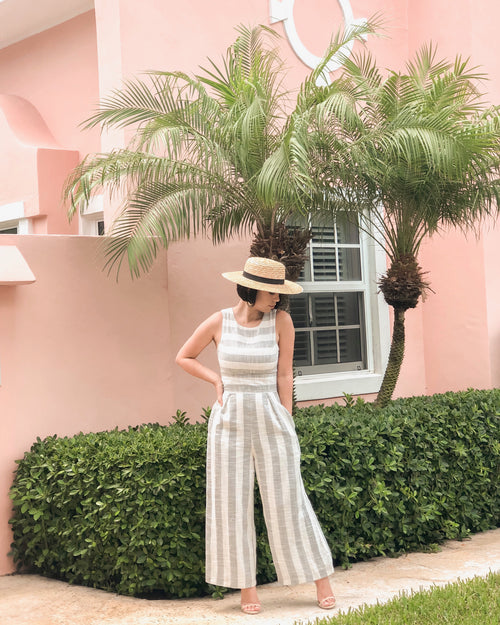 FETTE STRIPED JUMPSUIT