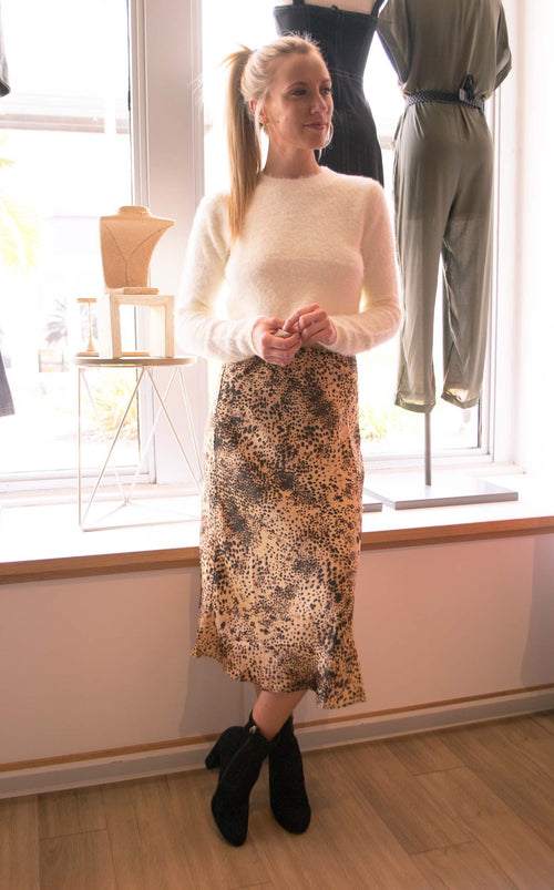 STEPH LEOPARD HIGHWAISTED SKIRT