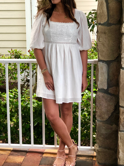 GRACIE SQUARE NECK DRESS