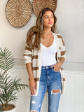 CARBRY WIDE STRIPED CARDIGAN