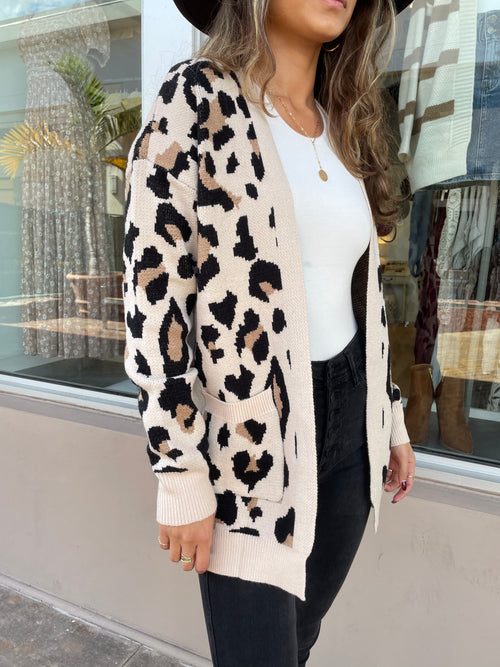 CUDDLE WEATHER LEOPARD CARDIGAN