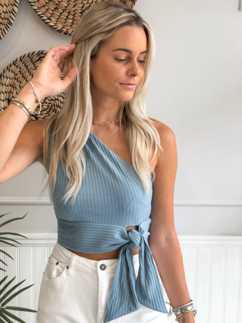 REESE ONE SHOULDER CROP TOP