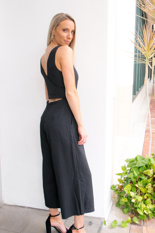 NAOMI WRAP COCKTAIL JUMPSUIT