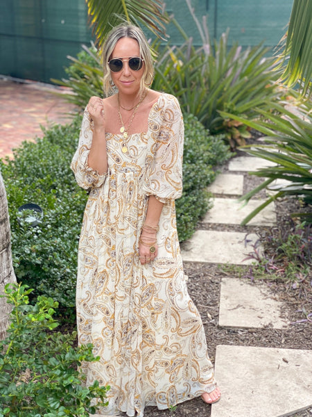 FRENCH COUNTRYSIDE FLORAL MAXI