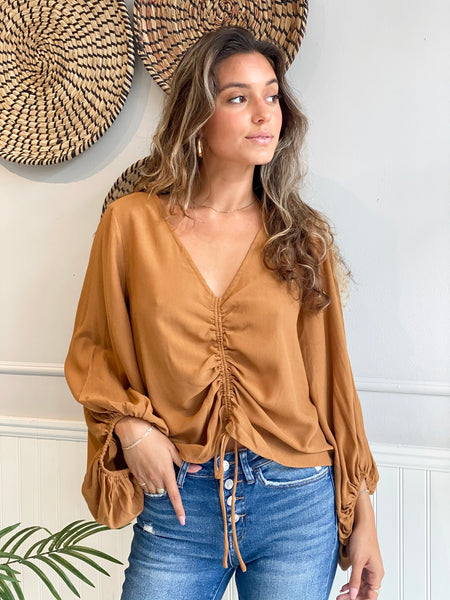 BURBANK WAFFLE OPEN SHOULDER TOP