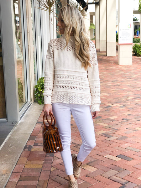 ASHA CHENILLE MOCK NECK SWEATER