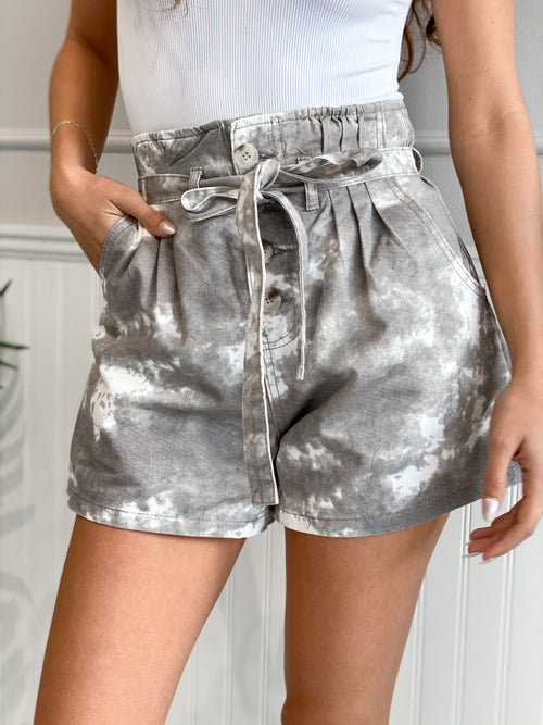 REID TIE DYE NEUTRAL DENIM SHORT