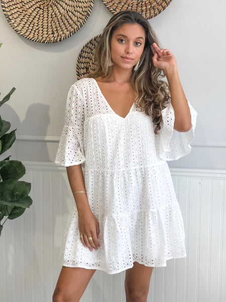 ASPEN LACED V-NECK DRESS