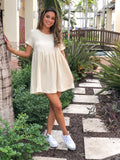 HAYLEI GAUZE BABY DOLL DRESS