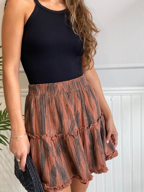 PENN FALL TIE DYE SKIRT