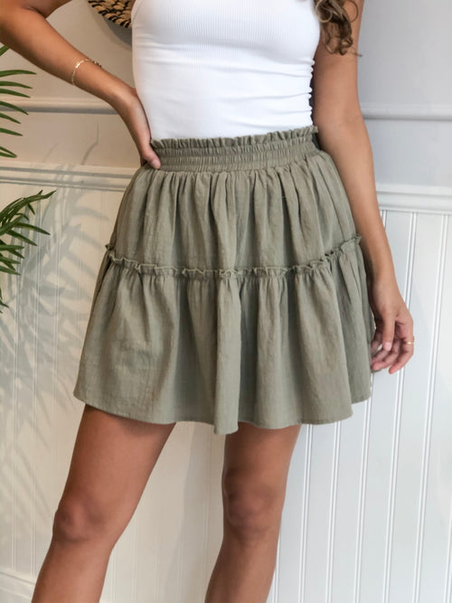 SHAYE TIERED MINI SKIRT