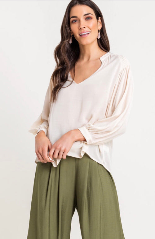 MEGAN V NECK BLOUSE