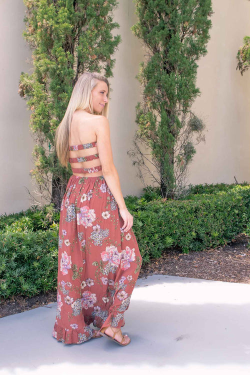 MILA FLOWER PRINT MAXI DRESS
