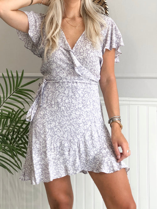 STEFI FLORAL WRAP DRESS