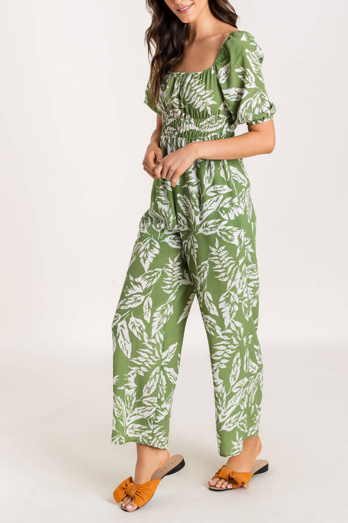 HELENE PRINT SQUARE NECK JUMPSUIT