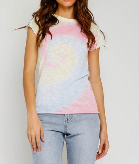 CASSIA THUNDER BIRD DISTRESSED GRAPHIC TOP