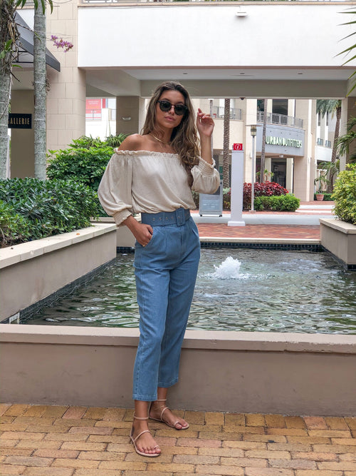 TESSA BASIC DENIM PANTS