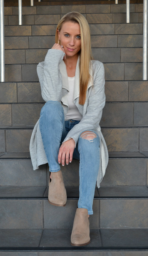 BRIANNA BRUSHED FIT CARDIGAN