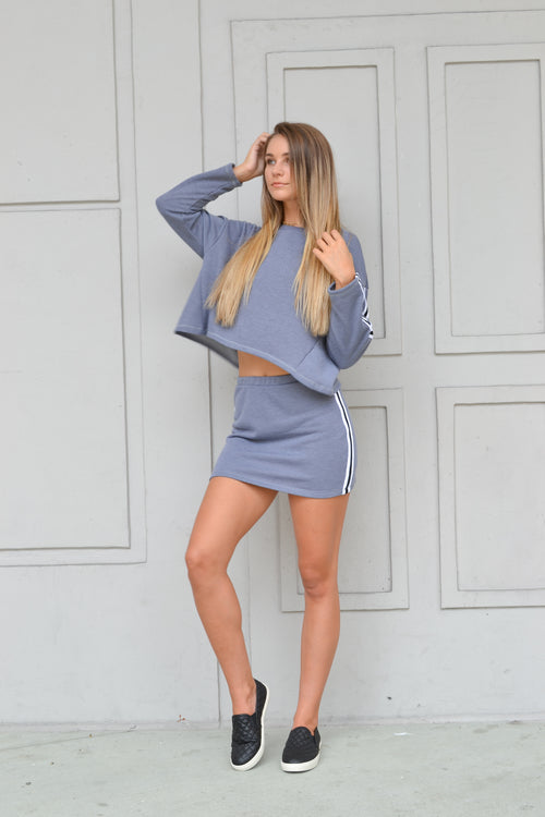EVIE TRACK SUIT SKIRT