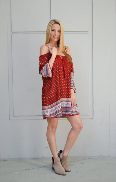 CONNIE COLD SHOULDER DRESS