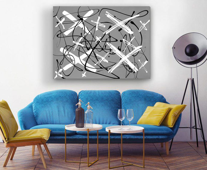 Black and White Contemporary Art