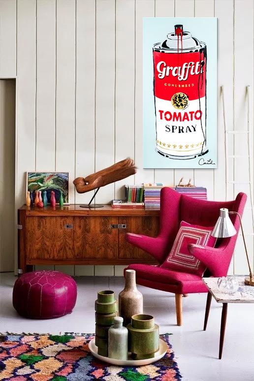 Campbell's Tomato Spray. <br> (Dripped Can)
