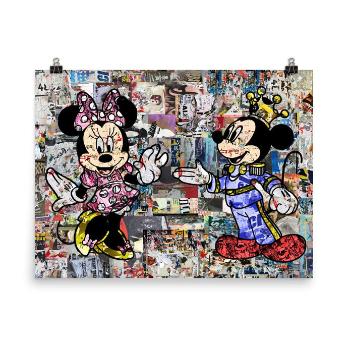 Minnie Mouse & Mickey Mouse Poster