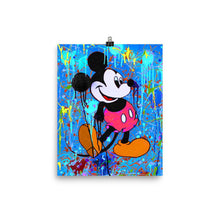 Mickey Mouse Blue Poster