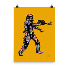 Stormtrooper Yellow Poster
