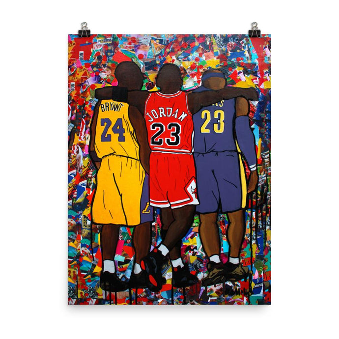 NBA Goats Poster (Lakers)