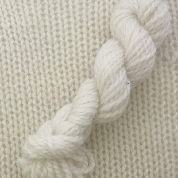 Symmetry Yarn is a perfect balance of hand dyed baby alpaca and fine wool.