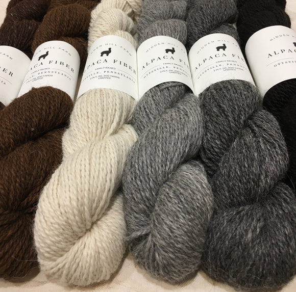 Hidden Hill Farm Alpaca Yarn
