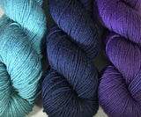 Shelridge Yarns are a fabulous superwash merino hand dyed in Canada in a great array of colors.