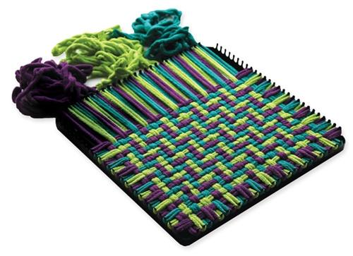 "Potholder Loom PRO makes 10"" x 10"" potholders."