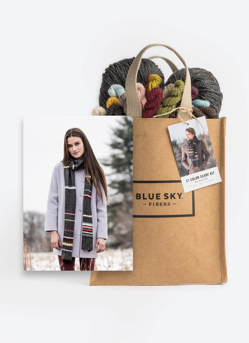 Blue Sky Fibers 21 Color Scarf Kit